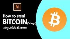 How to steal Bitcoin ('s logo) - Adobe Illustrator Tutorial