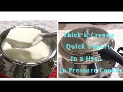 How To Make Yogurt In 2 Hrs In Pressure Cooker/ Quick And Easy Homemade Yogurt/Instant Yogurt Recipe