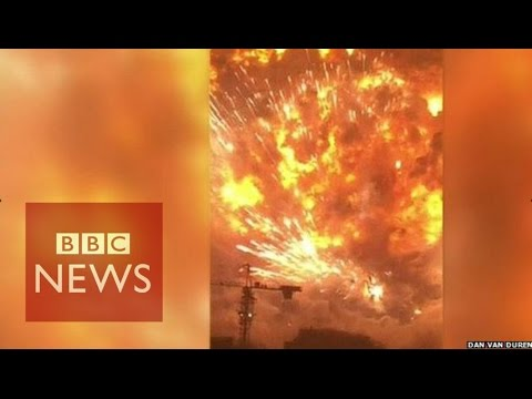 Tianjin explosion video captures fear of eyewitnesses - BBC News