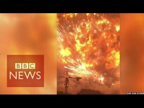 Tianjin explosion video