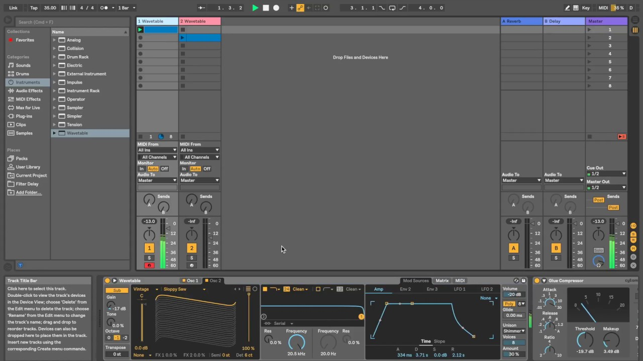 How to make a worship pad in Ableton Live 10 (wavetable synth)