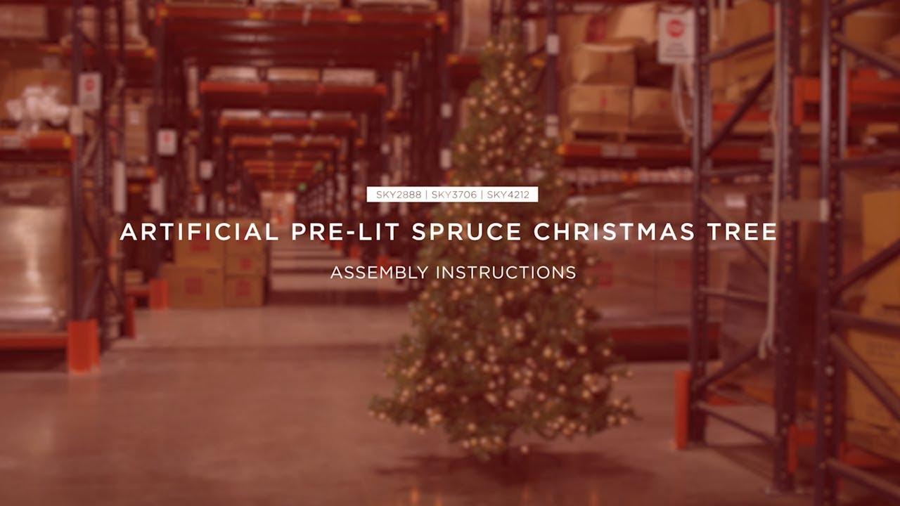 Artificial Christmas Tree Assembly Instructions.Assembly Artificial Pre Lit Spruce Christmas Tree Sky2888 Sky3706 Sky4212