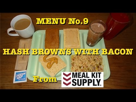 MRE Review: Menu No.9 Hash Browns with Bacon from Meal Kit Supply (2015)