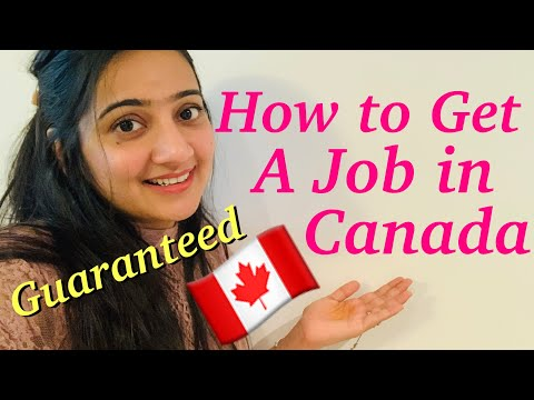 HOW TO GET A JOB IN CANADA FASTER!!
