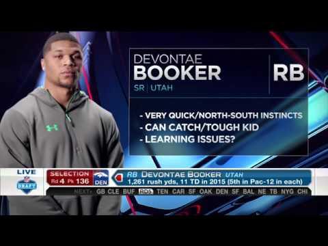 2016 NFL Draft Rd 4 Pk 136 | Denver Broncos Select RB Devontae Booker