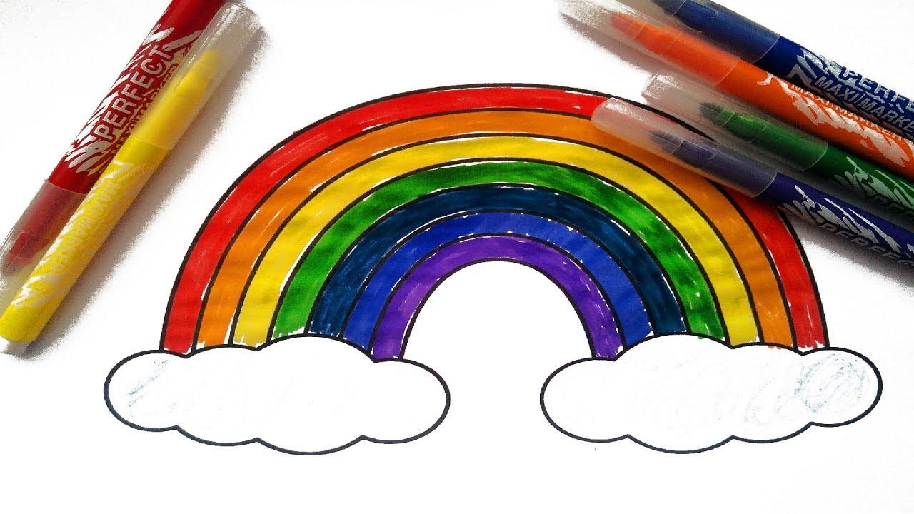 Gökkuşaği Boyamarainbow Coloring çiz Ve Boya