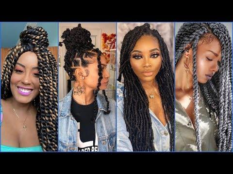 best-twist-braids-hairstyles-2020-for-black-women---latest-enviable-hair-ideas