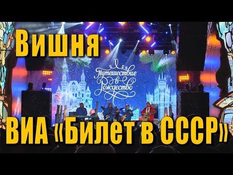 Вишня (Рудольф Мануков, Александр Прокофьев). ВИА «Билет в СССР». Концерт в Москве на Тверской.