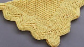 Bulmaca modeli bebek battaniyesi kenar örgüsü köşe yapılışı ve dikiş işlemi yapılışı(final)