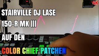 Tutorial Stairville DJ Lase 150-R MK-III auf den Eurolite Color Chief Patchen 4K German/Deutsch