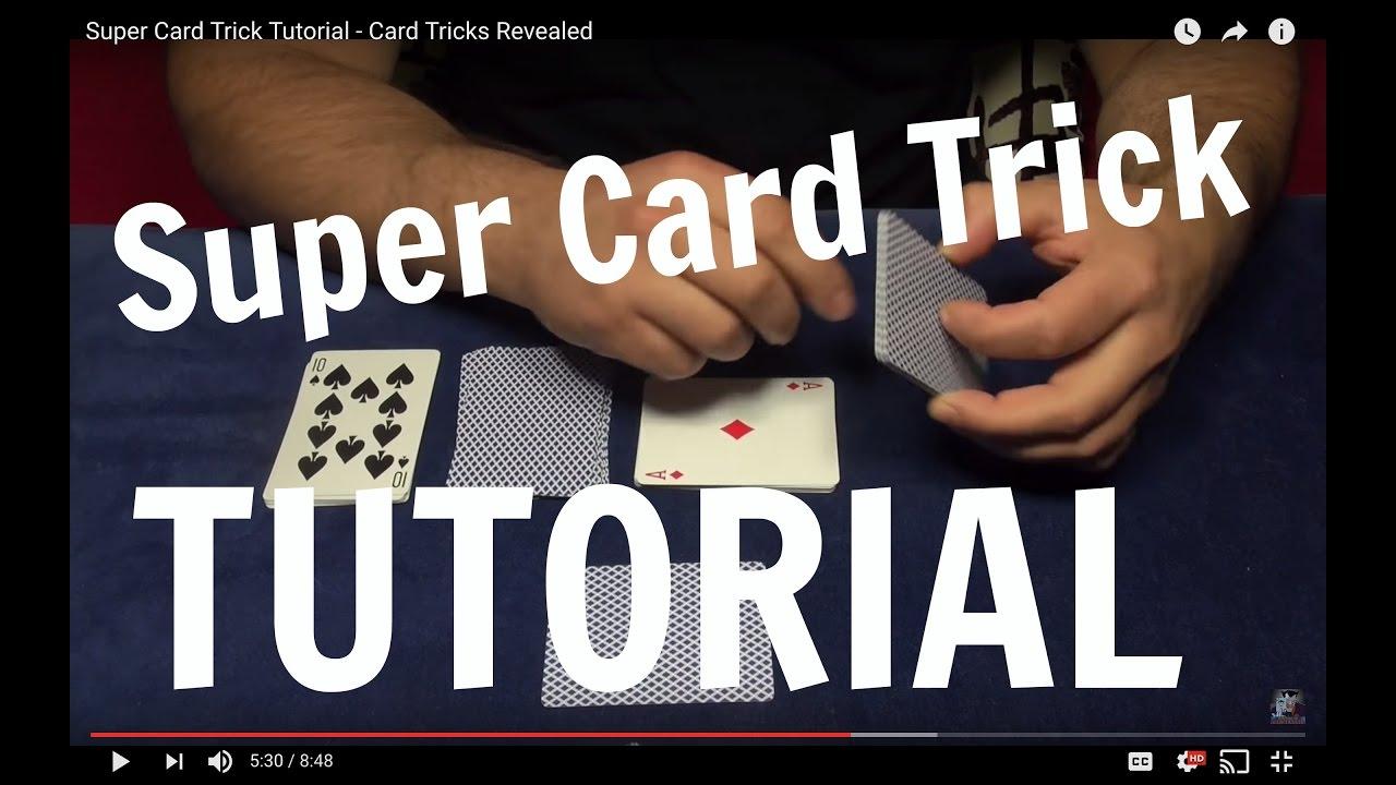 super card trick tutorial  card tricks revealed  youtube
