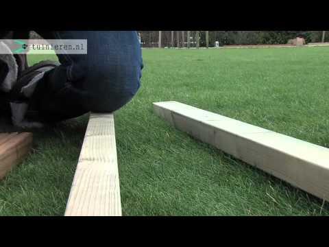 Vlonder terras aanleggen; de fundering