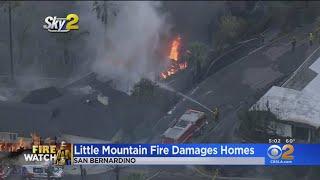 9 Homes Damaged In 17-Acre San Bernardino Brush Fire