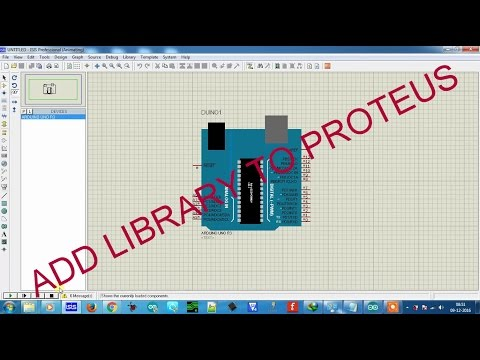 Fun with electronics and sensors: How to add library to proteus