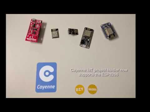Getting Started with the ESP8266 in Cayenne IoT Project Builder