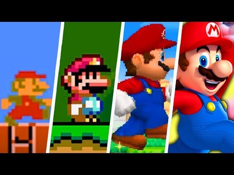 Evolution of First Levels in 2D Super Mario Games (1985 - 2019)