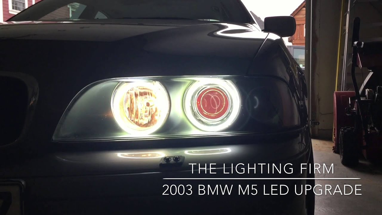 20012003 BMW M5 528i 535i Custom Headlights OEM LED Color