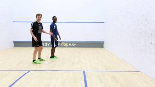 Squash tips: Forehand drop from the front court