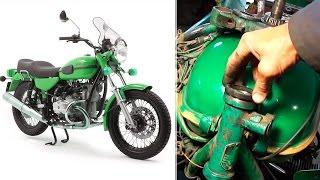 УРАЛ и МТ-10  -  Реставрация рулевой колонки мотоцикла(Это может сделать любой! ------- Группа