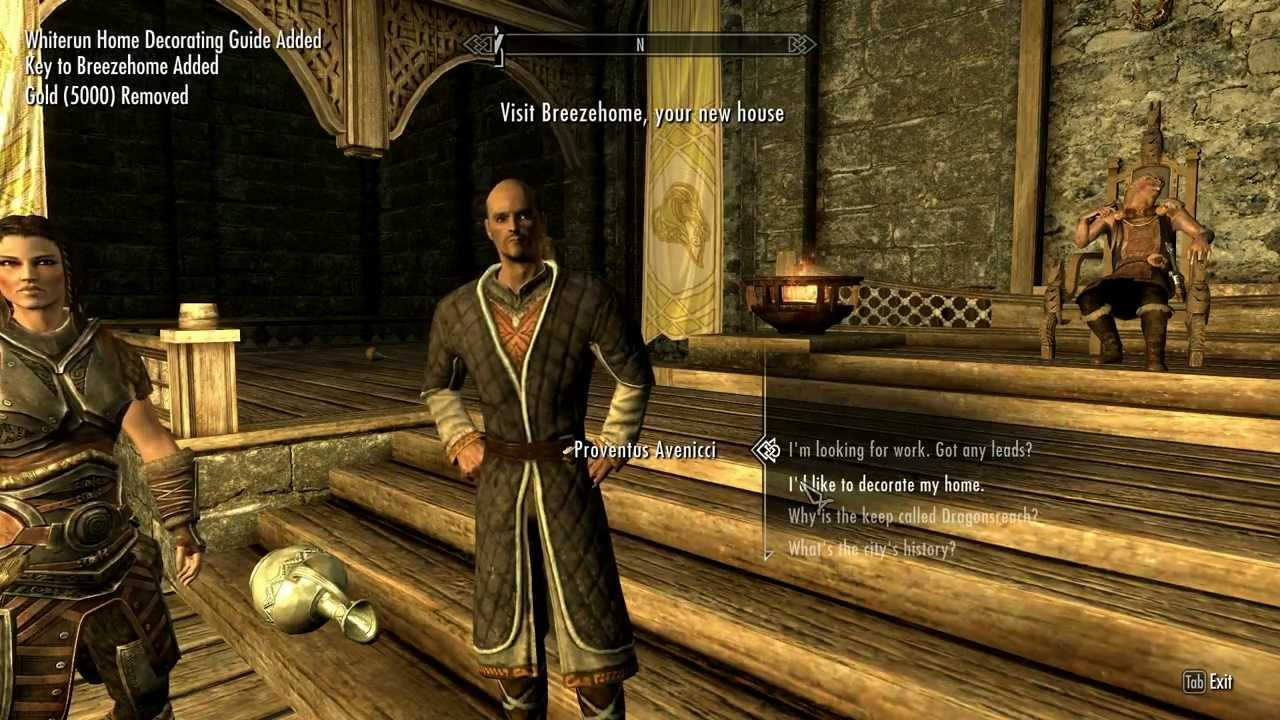 Skyrim How To Buy A House For Free Youtube