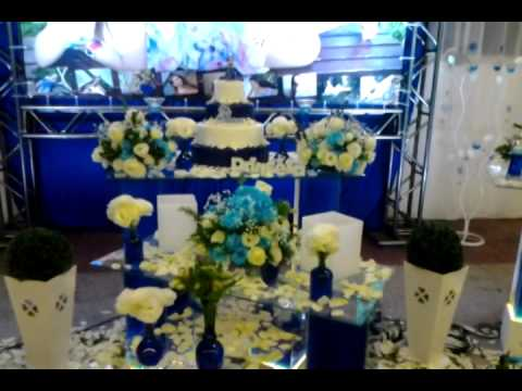 Felix Cerimonia - Decora??o Azul Royal e Branco - YouTube