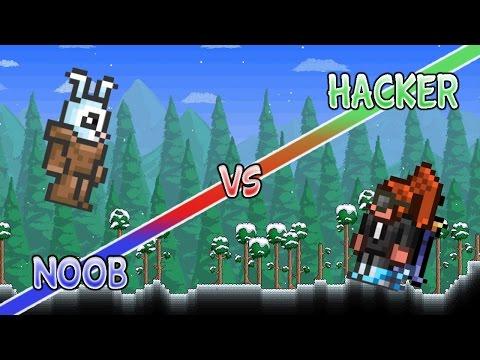 Terraria Noob VS Hacker