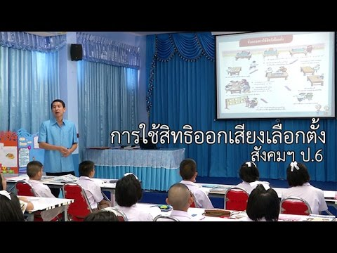 สังคมฯ ป.6 การใช้สิทธิออกเสียงเลือกตั้ง ครูอนุวัฒิ ศรีสระน้อย