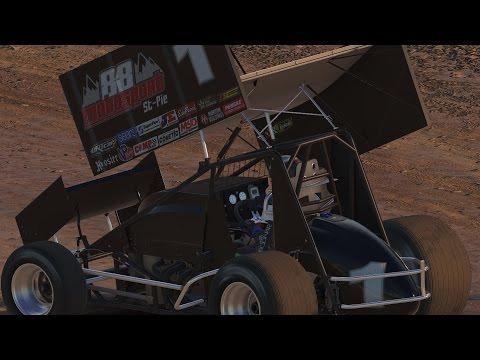 2017 Onboard iRacing 305 Sprint Car series | Eldora Speedway