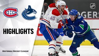 NHL Highlights | Canadiens @ Canucks 1/21/21
