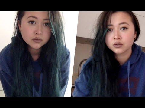 dying hair black with manic