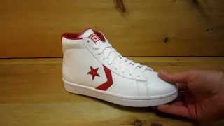 Converse Pro Leather Mid White Red