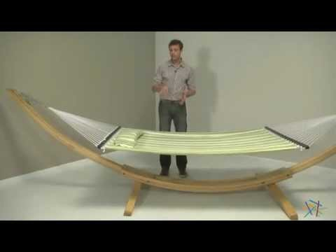 island bay cypress wood arc hammock stand product review video youtube