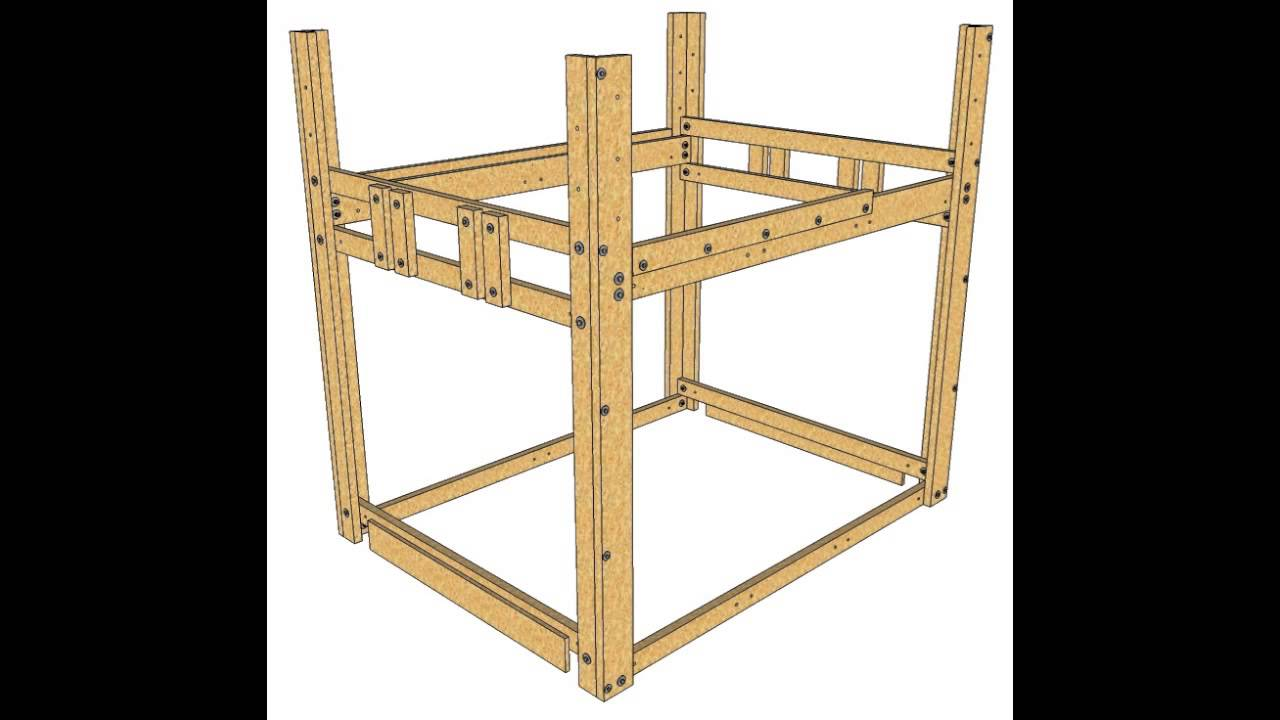 Loft Bed Plans Build A Bed Fort Youtube