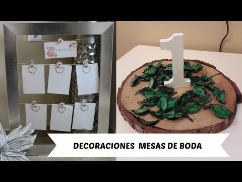 Decoraciones mesas de boda youtube - Decoraciones de bodas ...