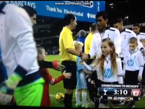 Tottenham Mascott little girl fan TROLLS Luis Suarez Tottenham 0-5 Liverpool  HD