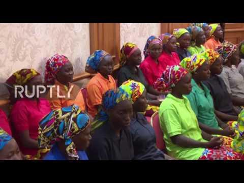 Nigeria: Liberated Chibok school girls welcomed by President Buhari