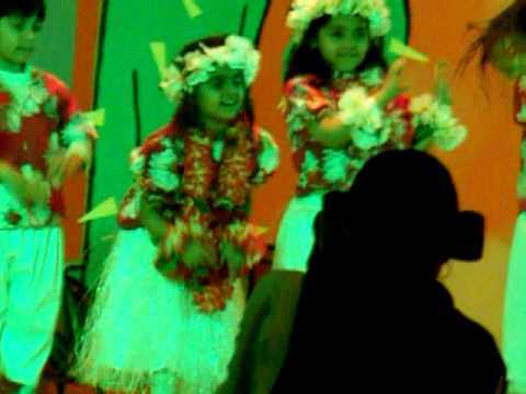 Ayana Kapoor K1D Annual Concert International School of Choueifat Hawaiian Dance 12 Feb 2014