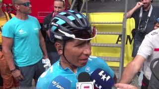 Nairo Quintana - entrevista en la salida - 20a etapa - Vuelta a España 2018