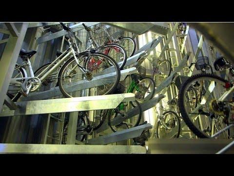 Bisikletler için yeraltında otomatik park - BBC TÜRKÇE