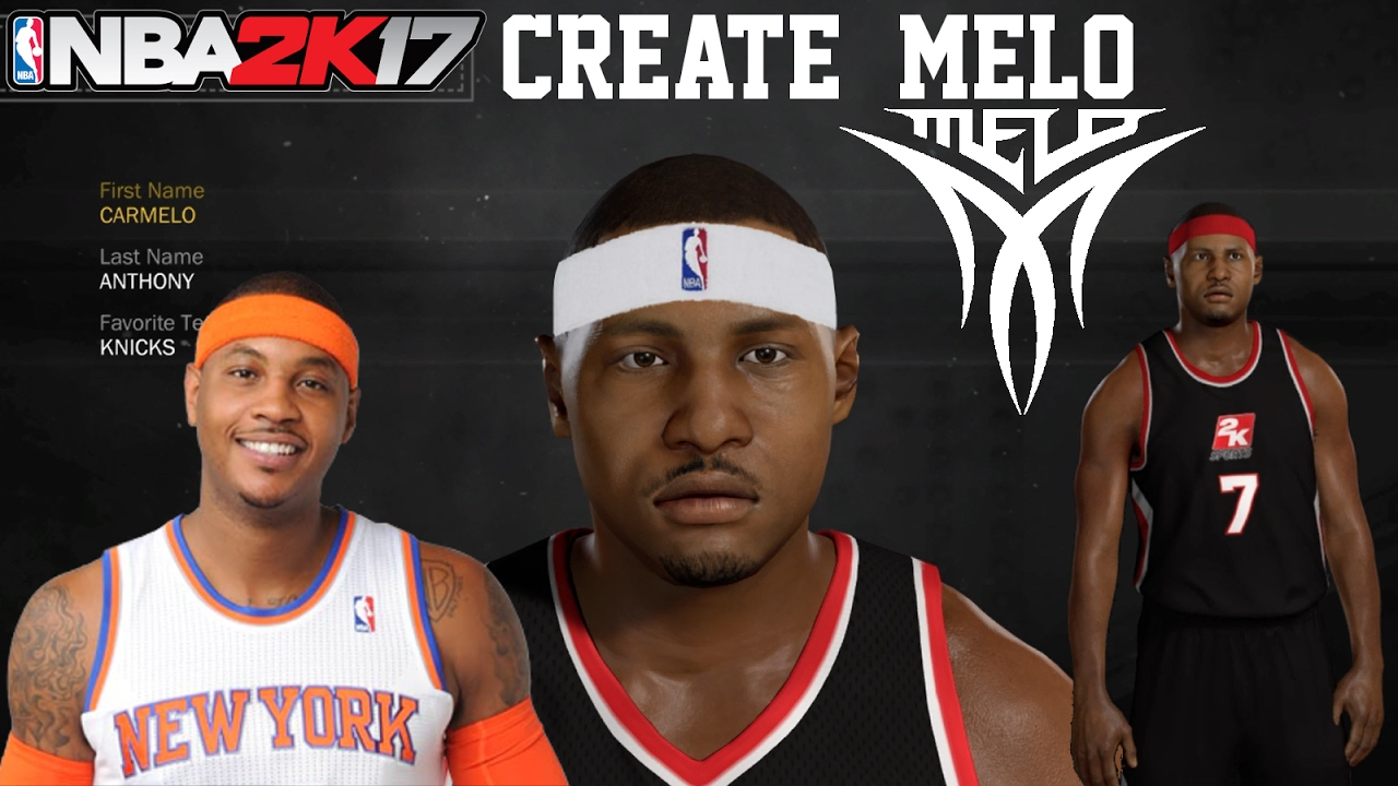bc7f6300d17aad NBA2K17 How To Create Carmelo Anthony MyPlayer MyCareer - YouTube