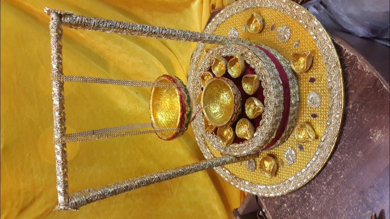 Diy Mehndi Plates : New design mehndi plates thaal setup wedding tray