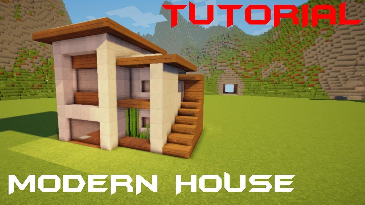 Minecraft Tutorial Cara Membuat Rumah Kecil Modern 9 Youtube