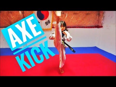 Taekwondo Axe & Crescent kick(TKD axekick tutorial) How to do axe kick and crescent kick