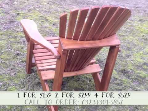 Walnut Stained U0026 Varnished Adirondack Chair