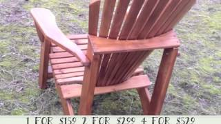 Walnut Stained & Varnished Adirondack Chair