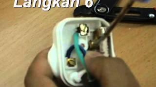 pemasangan plag 3 pin 13 ampere