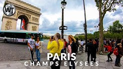 Paris, Champs-Elysees and Arc de Triomphe - 🇫🇷 France - 4K Virtual Tour