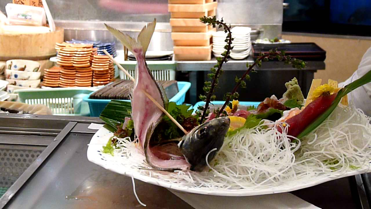 Fish eaten alive the best freshest sashimi ever tokyo for Best sashimi fish