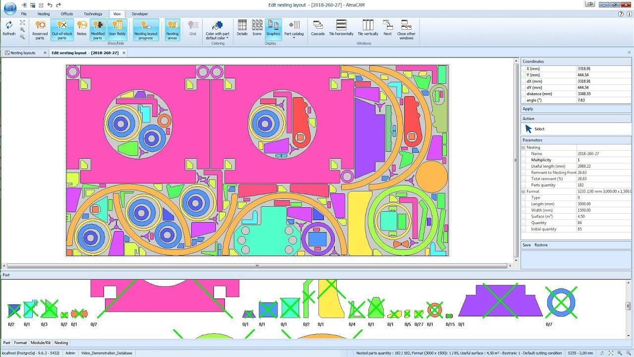 almaCAM Cut, CAD/CAM software for 2D cutting - Almacam